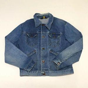 Wrangler No Fault Denim Jacket Distressed Medium